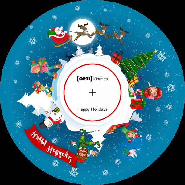 "Happy Holidays 6"" Effect Wheel"