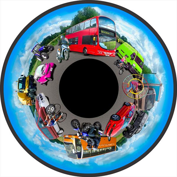 Road Transport 6″ Effect Wheel