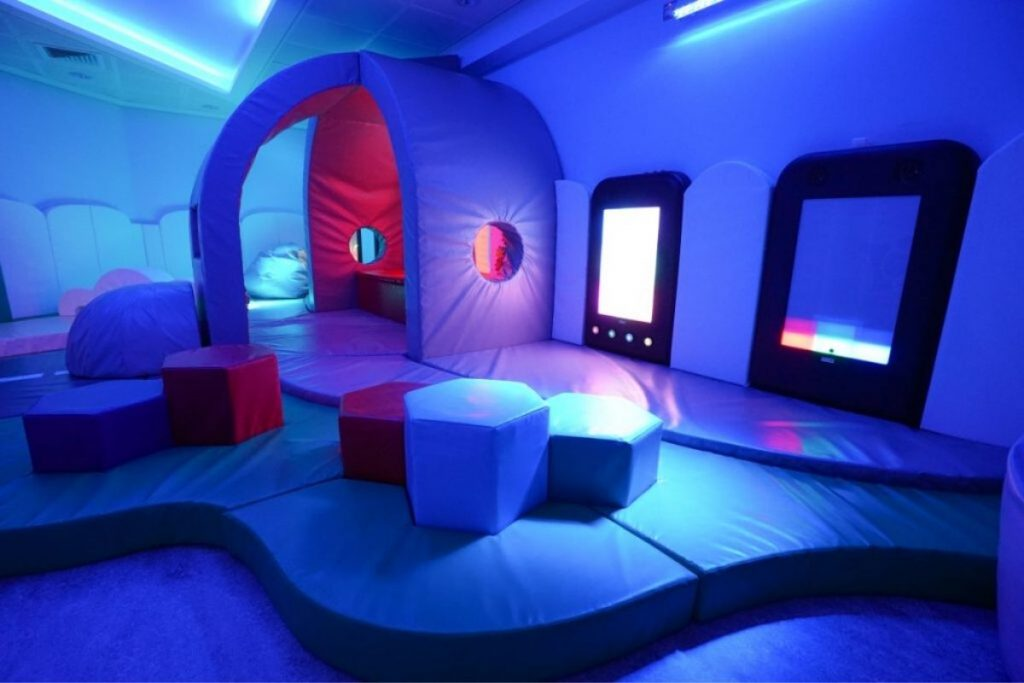 sensory room ideas bright colours